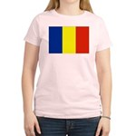 Romania Flag Women's Light T-Shirt
