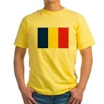Romania Flag Yellow T-Shirt