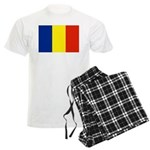 Romania Flag Men's Light Pajamas