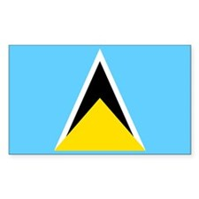 Saint Lucia Flag Decal