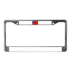 Samoa Flag License Plate Frame