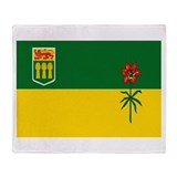 Saskatchewan Flag Throw Blanket