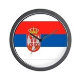 Serbia Flag Wall Clock
