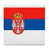 Serbia Flag Tile Coaster