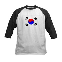 South Korea Flag Kids Baseball Jersey