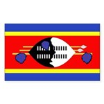 Swaziland Flag Sticker (Rectangle 50 pk)