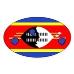 Swaziland Flag Sticker (Oval 10 pk)