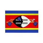 Swaziland Flag Rectangle Magnet