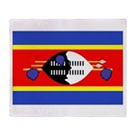 Swaziland Flag Throw Blanket