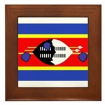 Swaziland Flag Framed Tile