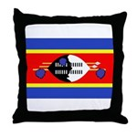 Swaziland Flag Throw Pillow