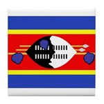 Swaziland Flag Tile Coaster