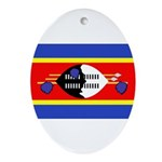 Swaziland Flag Ornament (Oval)