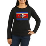 Swaziland Flag Women's Long Sleeve Dark T-Shirt