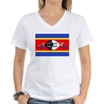 Swaziland Flag Women's V-Neck T-Shirt