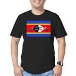 Swaziland Flag Men's Fitted T-Shirt (dark)