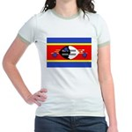 Swaziland Flag Jr. Ringer T-Shirt