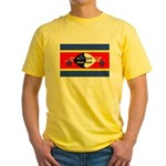 Swaziland Flag Yellow T-Shirt