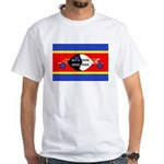 Swaziland Flag White T-Shirt