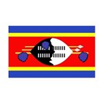 Swaziland Flag 38.5 x 24.5 Wall Peel