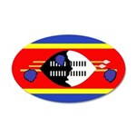 Swaziland Flag 38.5 x 24.5 Oval Wall Peel