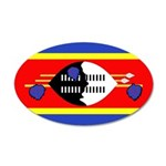 Swaziland Flag 22x14 Oval Wall Peel