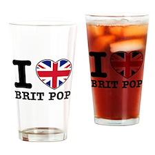 I love Brit Pop Drinking Glass