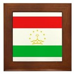 Tajikistan Flag Framed Tile
