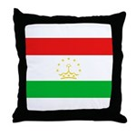 Tajikistan Flag Throw Pillow