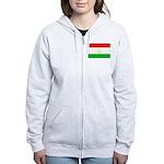 Tajikistan Flag Women's Zip Hoodie