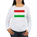 Tajikistan Flag Women's Long Sleeve T-Shirt