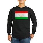 Tajikistan Flag Long Sleeve Dark T-Shirt