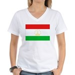 Tajikistan Flag Women's V-Neck T-Shirt