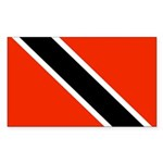 Trinidad and Tobago Flag Sticker (Rectangle 50 pk)