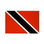 Trinidad and Tobago Flag Rectangle Magnet (100 pac