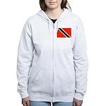 Trinidad and Tobago Flag Women's Zip Hoodie