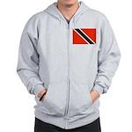 Trinidad and Tobago Flag Zip Hoodie