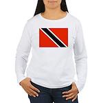 Trinidad and Tobago Flag Women's Long Sleeve T-Shi