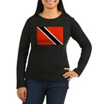 Trinidad and Tobago Flag Women's Long Sleeve Dark
