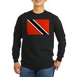 Trinidad and Tobago Flag Long Sleeve Dark T-Shirt