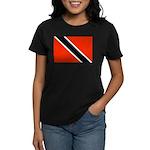 Trinidad and Tobago Flag Women's Dark T-Shirt