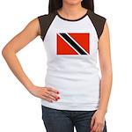Trinidad and Tobago Flag Women's Cap Sleeve T-Shir