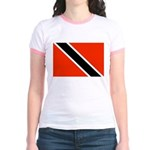 Trinidad and Tobago Flag Jr. Ringer T-Shirt
