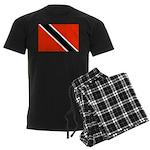 Trinidad and Tobago Flag Men's Dark Pajamas