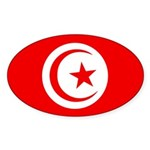 Tunisia Flag Sticker (Oval)