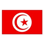 Tunisia Flag Sticker (Rectangle)