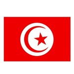 Tunisia Flag Postcards (Package of 8)