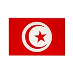 Tunisia Flag Rectangle Magnet (100 pack)