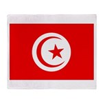Tunisia Flag Throw Blanket