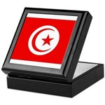 Tunisia Flag Keepsake Box